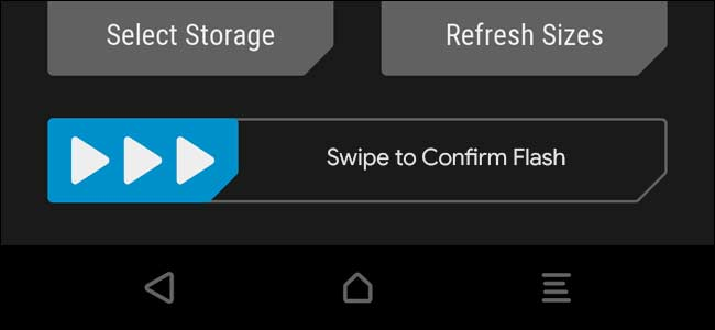 Now Swipe to confirm flash