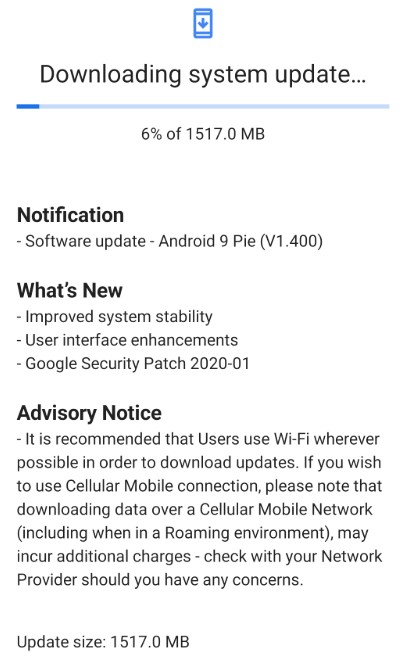 Download Latest Nokia 7.2 Security patch V1.400